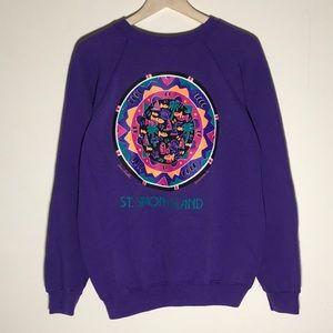 Vintage 1990s St. Simons Island Art Sweatshirt